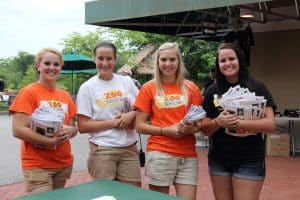 Greeters at Zoo Brew